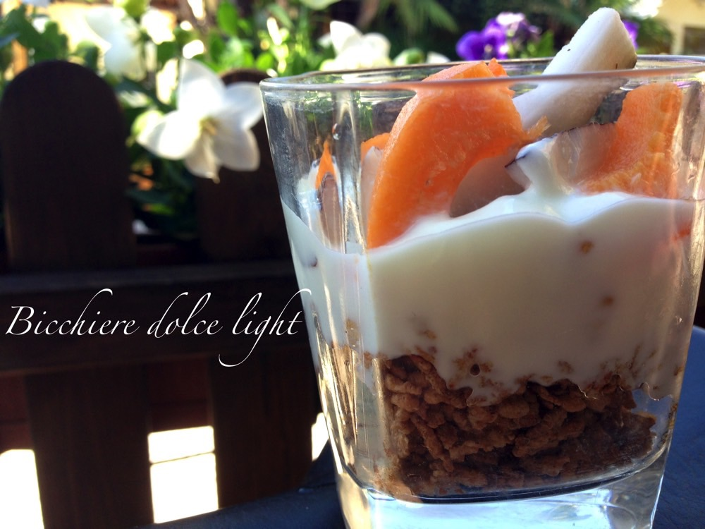 bicchiere dolce light