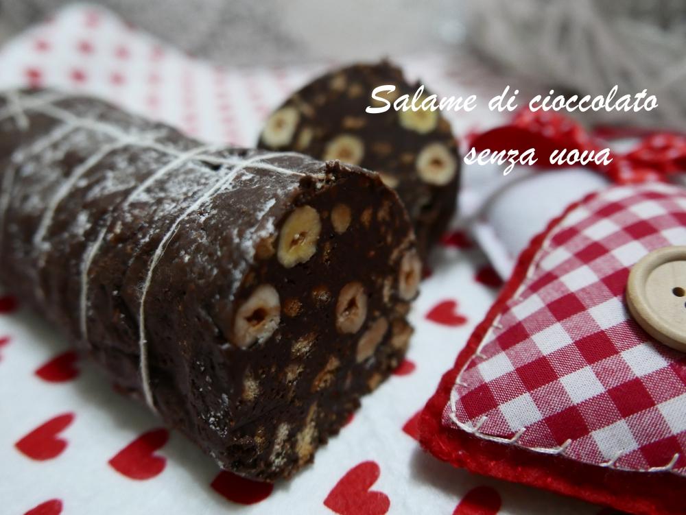 salame di cioccolato sena uova