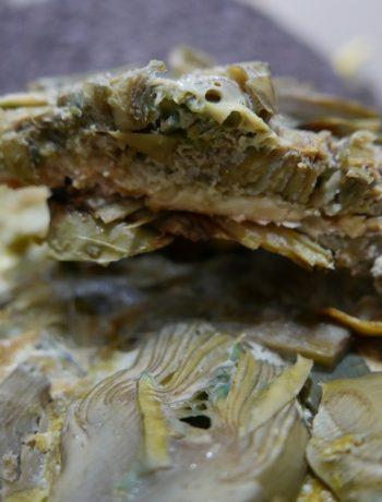 Sformato di carciofi in padella