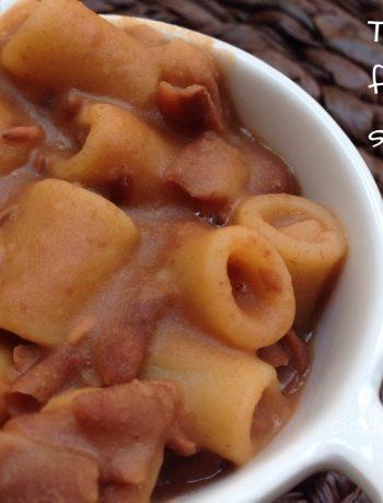 Tubettoni fagioli e salsiccia