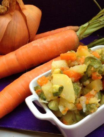 Contorno rustico con zucchine patate e carote