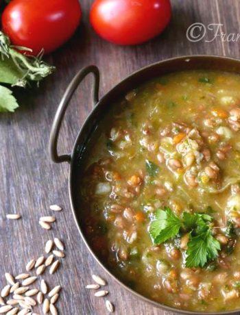 Minestrone di verdure al farro