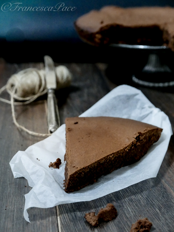 Torta cioccolato e cannella fetta
