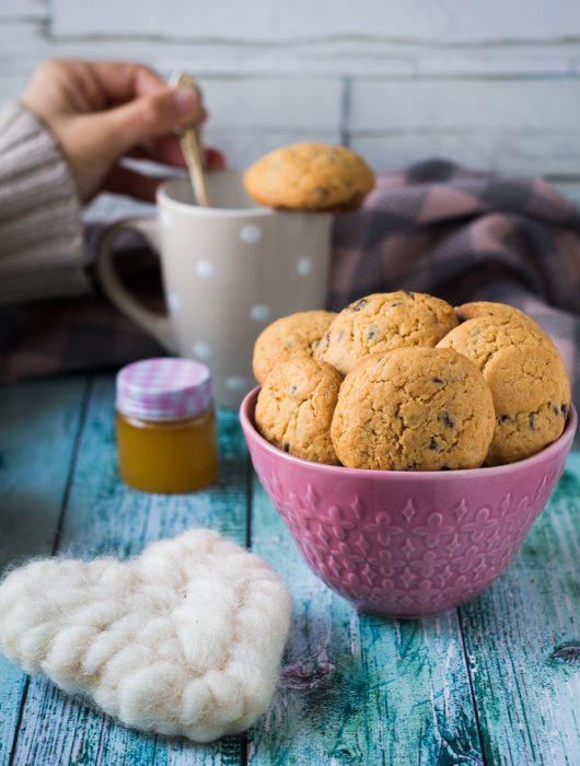 biscotti con gogge di cioccoltato