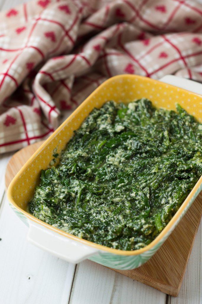 Sformato di spinaci e ricotta al forno