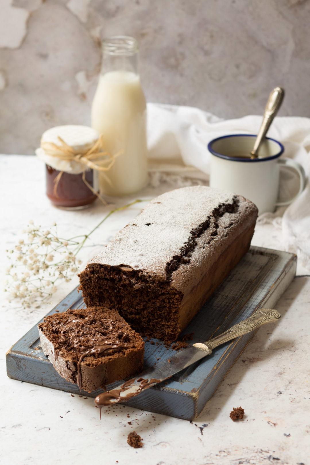 Plumcake senza burro all'acqua e cacao_