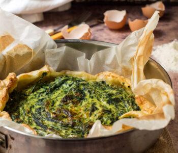 Torta rustica ricotta, spinaci e prosciutto