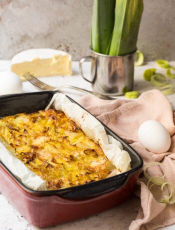 Frittata al forno con porri e patate e cremosissimo 1