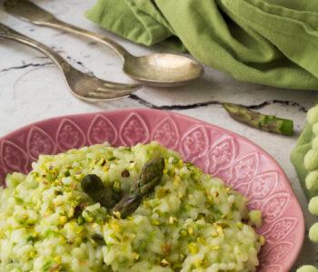 Risotto asparagi e stracchino
