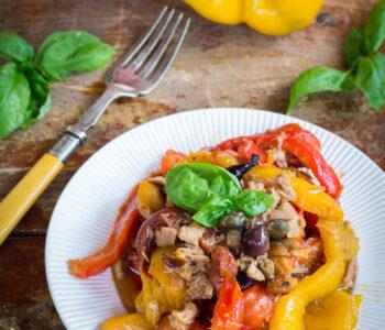 Ricetta peperoni con tonno